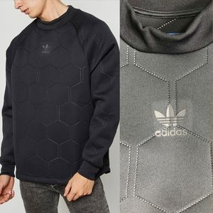 Adidas Sweatshirt Sonic Soccer Quilted Black Top M